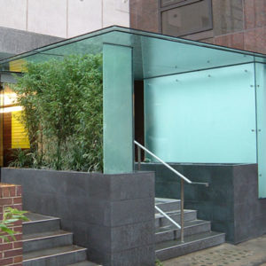 Glass Entrance Canopy, Broad Street House, EC2